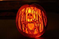 Nightmare Before Christmas Jack Skellington jack-o-lantern