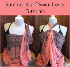 scarf tying tutorial swim cover ups