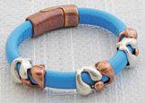 Snake Charmer Regaliz™ Leather Bracelet @ antelopebeads.com