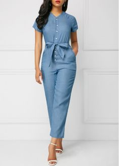 For the love of denim TopsSkirt lovedenim purpledenimng denimlove denimjacket denimdress denimtop denimskirt denimpants skirts pants dresses tops rompers Fashion Sewing, Denim Fashion, Fashion Outfits, Womens Fashion, Blue Jumpsuits, Jumpsuits For Women, Trendy Outfits, Cool Outfits, Winter Outfits 2019
