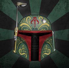 Les personnages de Star Wars version fête des morts mexicaine #07