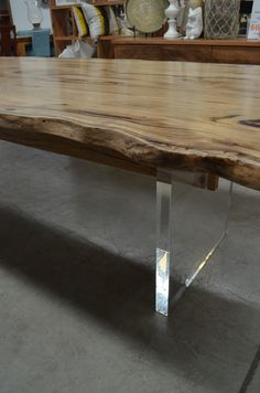 Western Australiau0027s Most Beautiful Contemporary Furniture, Such As This  Marri And Acrylic Dining Table,