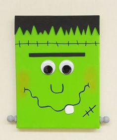 Halloween Paintings On Canvas Lovely Ben Franklin Crafts and Frame Shop D I Y Frankenstein Canvas Halloween Canvas Paintings, Fall Canvas Painting, Halloween Painting, Painting For Kids, Halloween Kids, Halloween Crafts, Halloween Decorations, Painted Canvas, Fall Paintings