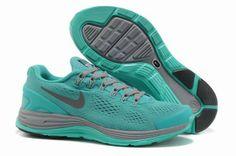 factory price f1f84 3c9c0 SOG95 Women Nike LunarGlide+4 Grenadine Gray Blue UK Sale Outlet Stockists