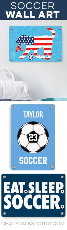 What's your mantra? Check out our colorful metal wall art signs. Soccer Room Decor, Room Signs, Eat Sleep, Metal Wall Art, Mantra, Decorative Throw Pillows, Unique Gifts, Colorful, Check