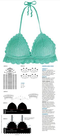 Crochet Bralette Crochet Top Crochet By - maallure Crochet Lingerie, Crochet Bra, Crochet Bikini Pattern, Crochet Bikini Top, Crochet Woman, Crochet Clothes, Crochet Patterns, Crochet Gratis, Crochet Books