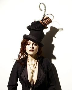 """ Helena Bonham Carter: 'We're the bonkers couple' ~ The actor tells Simon Hattenstone about life with Tim Burton, their latest spectacular, Alice In Wonderland – and being branded a 'disastrous dresser'"" ~ I ♥ her SO much! ~"