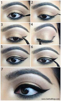 les étapes pour mettre l'eyeliner