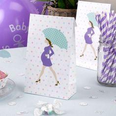 """Geschenktüten """"Showered With Love"""" - 5 Stück Babyshower, Love, Ideas, Self, Paper, Gifts, Amor, Baby Shower, Baby Showers"""
