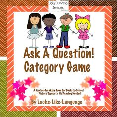 A fun category game for asking questions and finding out about classmates! Worksheets and homework, too! $