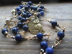 Owl Magickal Totem - owl totem, goddess prayer beads, goddess rosary, owl magical strand, owl prayer beads, owl totem, goddess rosary by MagickAlive on Etsy