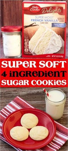 Ingredients) - Never Ending Journeys - Soft Vanilla Sugar Cookies Recipe! Ingredients) – Never Ending Journeys - Cookies Cupcake, Soft Sugar Cookies, Cookie Desserts, Yummy Cookies, Just Desserts, Cookie Recipes, Shortbread Cookies, Cookie Favors, Baby Cookies