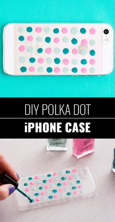 DIY Crafts Using Nail Polish - Fun, Cool, Easy and Cheap Craft Ideas for Girls, Teens, Tweens and Adults |    DIY Polka Dot iphone Case