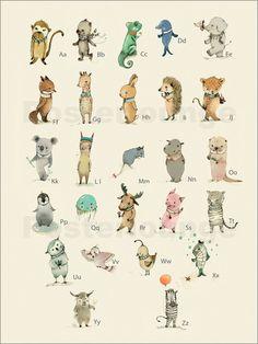 Paola Zakimi ABC Tiere - Das Alphabet (deutsch) Poster bei Posterlounge ✔ Gratisversand ✔ Kauf auf Rechnung ✔ verschiedene Materialien & Formate ✔ Jetzt bestellen!