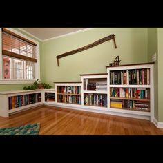 Custom Bookcase Built-ins by Mike Korsak Woodworking, LLC