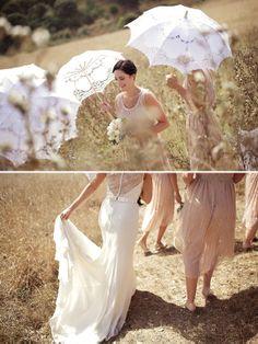 paper umbrella Waiheke Island wedding by Shine Studios