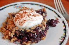 Blueberry Crisp with Oatmeal Topping