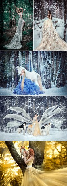 Fairy Tales Come True! 25 Magical Fantasy Bridal Portraits You\'ll Love! - Praise Wedding