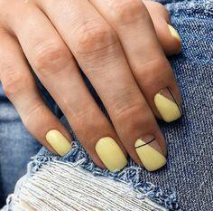 Nails Yellow nail art the is Nail Art Designs, Colorful Nail Designs, Nails Design, Minimalist Nails, Cute Acrylic Nails, Cute Nails, Hair And Nails, My Nails, Yellow Nail Art