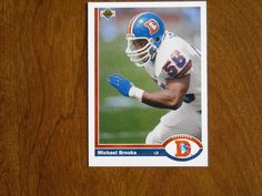 Michael Brooks Denver Broncos Linebacker Card No. 572 (FB572) 1991 Upper Deck Football Card - for sale at Wenzel Thrifty Nickel ecrater store