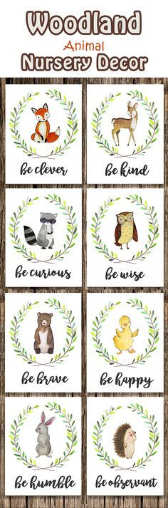 The prints are beautiful! Even better up close than online. - Woodland Animal Nursery Decor | Fox Deer Raccoon Owl Bunny Rabbit Bear | Woodland Creatures Be Brave Be Kind Be Curious Be Happy | Wall Art #woodland #nursery #wallart #ad
