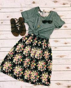 floral skirts <3