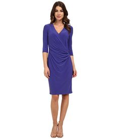 Anne Klein Anne Klein  VNeck Side Drape with Hardware Tangier Womens Dress for 77.99 at Im in! #sale #fashion #I'mIn