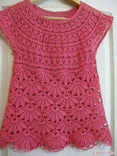 Blusa em crochet