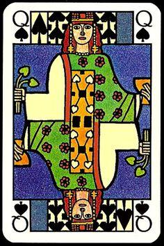 jugendstil_art_nouveau_playing_cards_the_queen_of_spades.jpg (354×532)