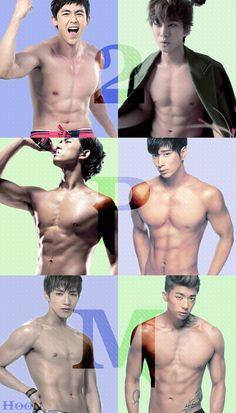 2PM ♡Junsu, Nichkhun, Taecyeon, Wooyoung, Junho and Chansung