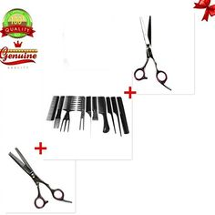 Hair Straightener | EYX Formula 10 PCS Professional Hair Comb Set with 1 set Hairdress Scissor1pc Regular1 Texturizing Scissor * Read more reviews of the product by visiting the link on the image.-It is an affiliate link to Amazon. #HairStraightener