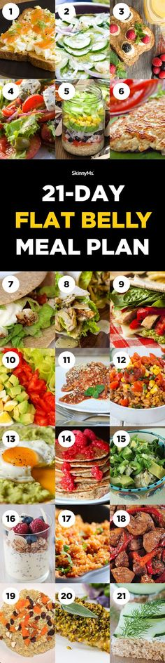 Inspire your clean eating  with our 21-Day Flat Belly Meal Plan--3 weeks of delicious recipes!