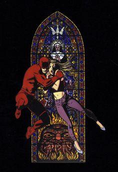 Daredevil and Karen Page by David Mazzucchelli