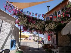 A colourful corner, Yalikavak, Bodrum peninsula Turkey. by sonyboy2, via Flickr