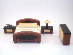 Lego Furniture: Master Bedroom Set W/ King Bed, Dresser, Nightstands, + More