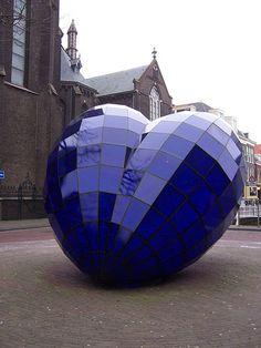 Heart - glass sculpture