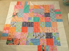 A personal favorite from my Etsy shop https://www.etsy.com/listing/234684934/kate-spain-quilt-top-42x42