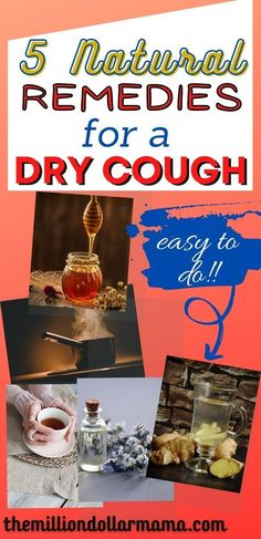 This list of the 5 best natural remedies for a dry cough are sure to help you start feeling better! Avoid medicine with these natural remedies. #ChestyCoughHomeRemedies Best Cough Remedy, Homemade Cough Remedies, Cold And Cough Remedies, Natural Remedies For Arthritis, Home Remedy For Cough, Allergy Remedies, Natural Cold Remedies, Cold Home Remedies, Holistic Remedies