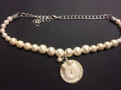 Vintage White Button & pearl necklace by BornAgainButtons on Etsy, $15.00