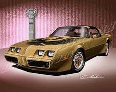 1981 TRANS AM (T-tops-gold)
