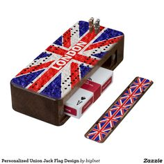 Personalized #Union #Jack #Flag Design #Walnut #Cribbage #Board