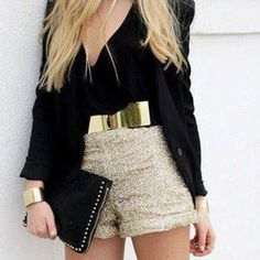 Gold Sequin Jumpsuit | bag silver glitter belt gold belt classy gorgeous blonde hair jumpsuit ...