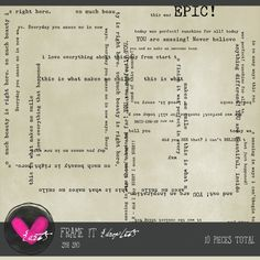 Art Journaling :: Elements :: Frame It {droplet}