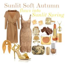 Dusty Soft Autumn by prettyyourworld on Polyvore featuring Notte by Marchesa, Boohoo, Charlotte Olympia, Jimmy Choo, Allurez, Kate Spade, David Yurman, Forzieri, Tom Ford and Estée Lauder