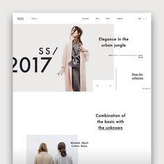 Website Design Inspiration, Fashion Website Design, Website Design Layout, Homepage Design, Newsletter Design, Web Layout, Layout Design, Daily Inspiration, Ux Design