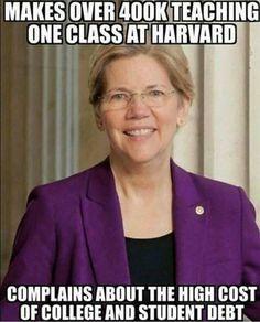Elizabeth Warren Liberal Hypocrisy I Loathe This Pos