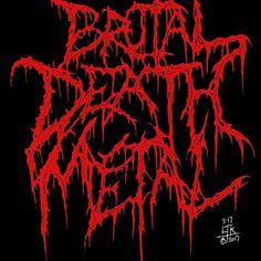 Brutal Death Metal Dark Background Wallpaper, Metallic Wallpaper, Dark Backgrounds, Heavy Metal Art, Black Metal, Death Metal, Metal Font, Cool Half Sleeve Tattoos, Horror Font