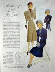 Butterick 7547 and 7545 | 1930s Dress pattern