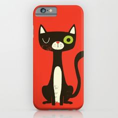 Black Cat iPhone & iPod Case by Monster Riot | Society6