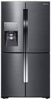 Samsung RF23J9011SG 36 Inch French Door Refrigerator with 22.5 cu. ft. Capacity, 5 Spillproof Glass Shelves, Gallon Storage, Triple Cooling System, Flex Zone, Power Freeze and Cool and External Ice and Water Dispenser: Black Stainless Steel